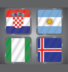 Football championship flags group d vector