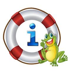 Frog Information Kioski Sign vector image vector image