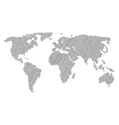 global atlas mosaic of dotted arrow items vector image