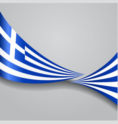 Greek wavy flag vector