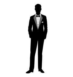 Groom silhouette vector
