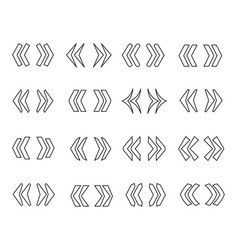 guillemets line icon set vector image