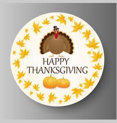 Happy thanksgiving celebration design with turkey vector