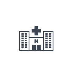 hospital related glyph icon vector image