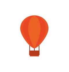 Hot air balloon australia icon on white background vector