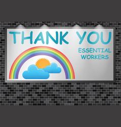 Illuminated advertising billboard thank you essent vector