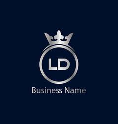 Initial letter ld logo template design vector