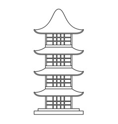 japan temple icon outline style vector image