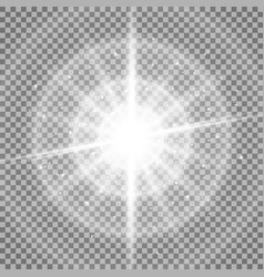 Light circle with waves light and stardust vector