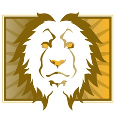 lion head art vector image