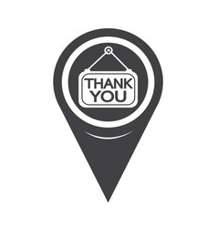 map pointer thank you icon vector image