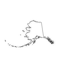 map us state alaska vector image