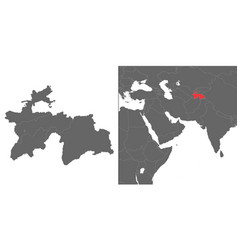 map with location vector image