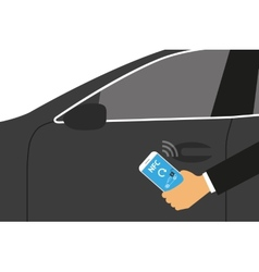 Mobile access vector image