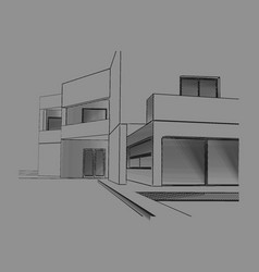 modern house drawing vector image