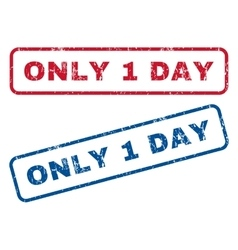 Only 1 Day Rubber Stamps vector
