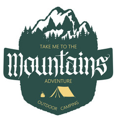 Outdoor mountain expedition typography vector