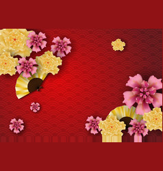 paper art of chinese traditional and asian vector image