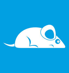 Pet mouse icon white vector