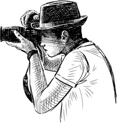 Photograph in a hat vector