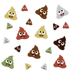 Poop smiley background vector