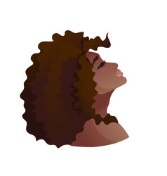 Portrait young african american woman head up vector