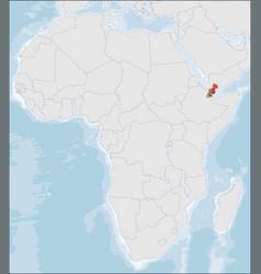 Republic djibouti location on africa map vector