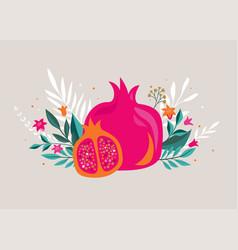 rosh hashana jewish new year greeting card vector image