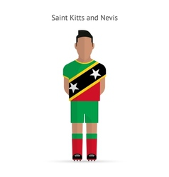 Saint Kitts and Nevis football player Soccer vector