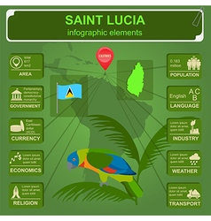 Saint Lucia infographics statistical data sights vector