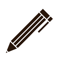 school education pencil write supply silhouette vector image