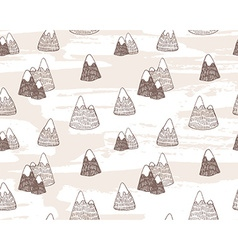 Seamless pattern with mountains landscape Eastern vector