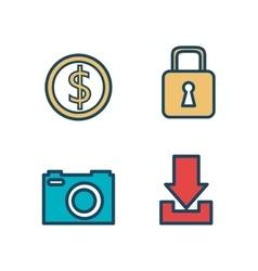 set digital virtual secure vector image