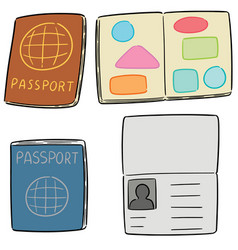 Set of passport vector
