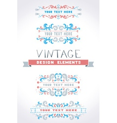Set of vintage page decorations vector
