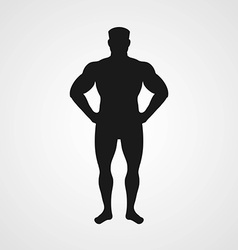 Silhouette of sporting men vector