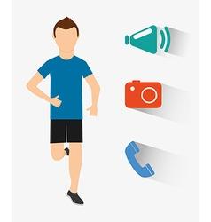 smartwatch services vector image