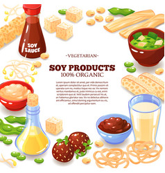 soy product decorative frame vector image