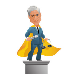special counsel robert mueller caricature vector image