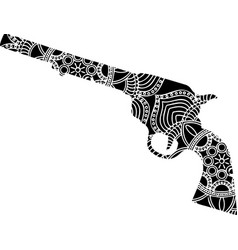Tattoo gun with ornaments in vector