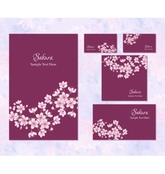 Template corporate identity with sakura vector
