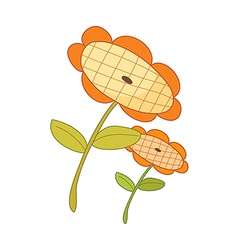 The two of sunflowers vector