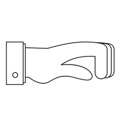 twisted finger icon outline style vector image