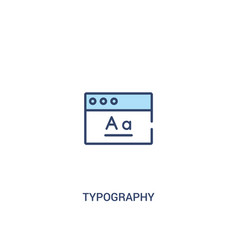 Typography concept 2 colored icon simple line vector