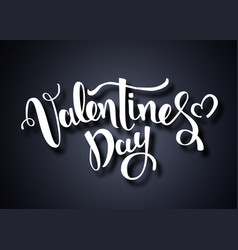 valentines day card happy valentines day vector image