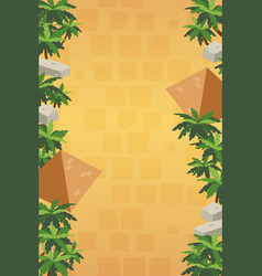 Vertical game background with pyramids vector