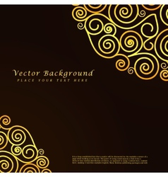 Vintage abstract background with golden vector