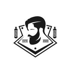 vintage logo design men39s hair salon vector image