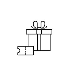 voucher box gift icon marketing icon thin line vector image