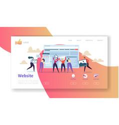 website development landing page template vector image